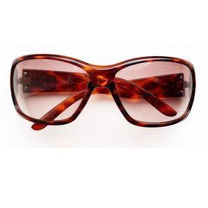 """Reddish-brown """"animal print"""" DG sunglasses"""